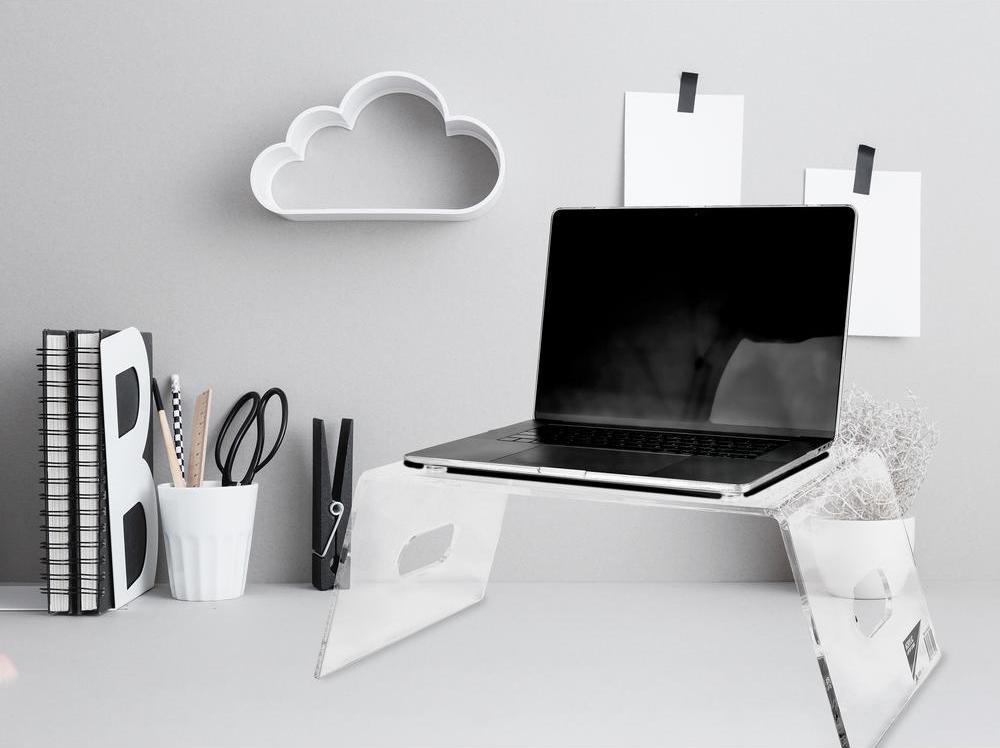 AdirHome clear laptop riser